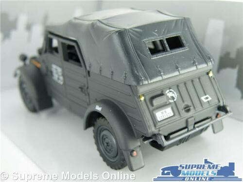 VW VOLKSWAGEN KUBEL WAGON TYPE 82 CAR MODEL 1:43 GREY 1940 ARMY MILITARY CL T4