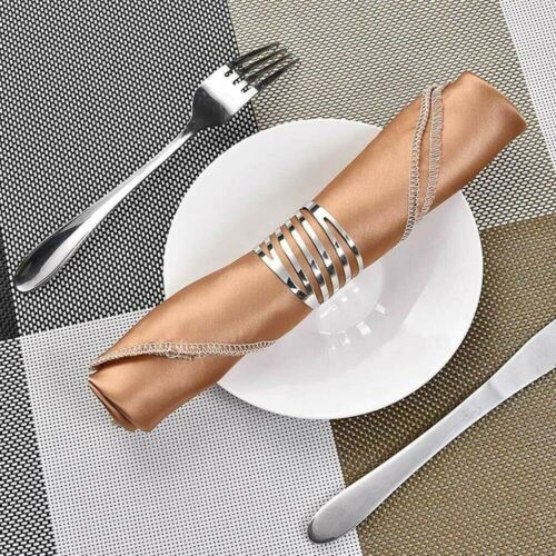 1//12 PCS Serviette Napkin Rings Holder Buckle Wedding Dinner Towel Party Table