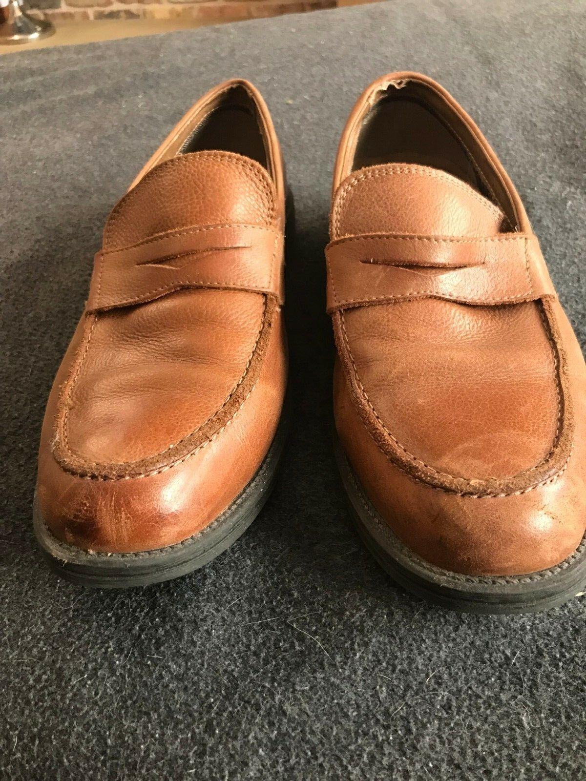 Bass slip on braun braun braun Größe 9 1 2 loafer, nice schuhe gentle wear. fd8e60