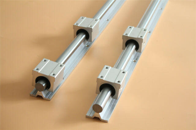 2x SBR25 600MM Linear Rail CNC 4x SBR25UU Bearing Block Fully-Supported
