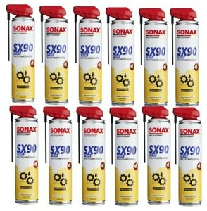 Sonax-SX-90-Plus-mit-EasySpray-Multifunktionsoel-Schmieroel-Kriechoel-12-x-400-ml