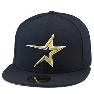 New-Era-Houston-Astros-034-1999-Casa-034-Berretto-su-Misura-Cappello-All-Blu-Scuro