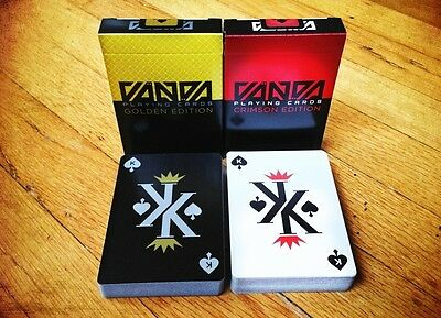 2 Pack Set Vanda Playing Cards Crimson Golden USPCC RARE