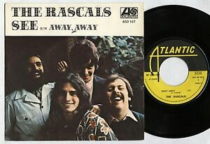 RASCALS-See-Away-away-FRENCH-Orig-7-034-w-PS-ATLANTIC-1969