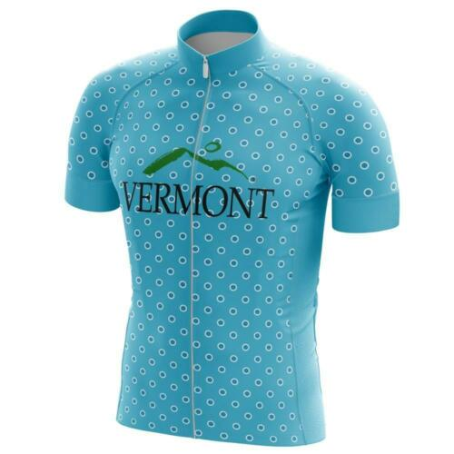 """Details about  /Team Vermont /""""Beautiful Ride/"""" Men/'s Short Sleeve Cycling Jersey"""