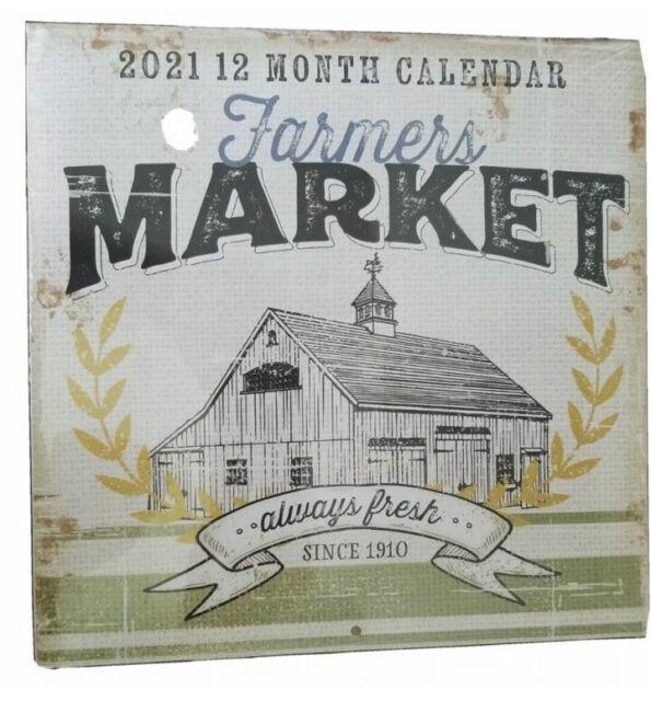 2021 Farmers Market Calendar (from Dollar Tree) - NIP | eBay