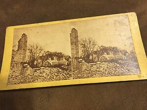 Rare-Stereoview-Great-CHICAGO-FIRE-of-1871-McCagg-039-s-Green-House