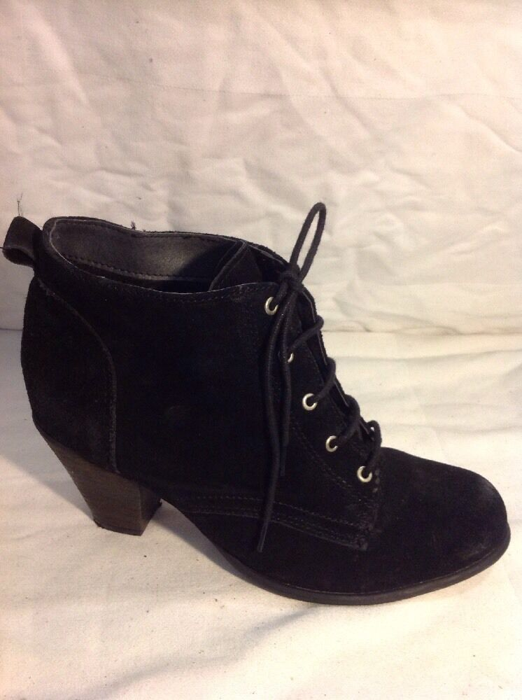 Office London Black Ankle Suede Boots Size 39