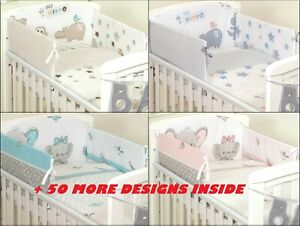 50-DESIGNS-3-or-5-pcs-BABY-BEDDING-SET-fit-Cot-120x60cm-or-Cot-Bed-140x70