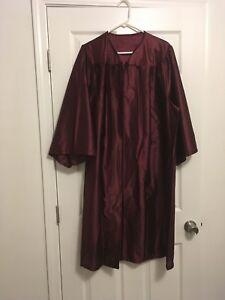 Herff Jones The Classkeeper 52 Graduation Cap Gown Burgundy Ebay