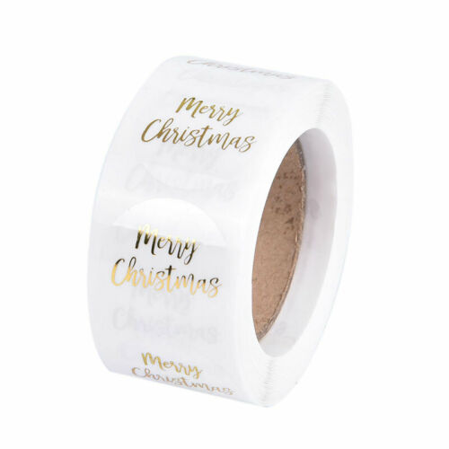 500pcs//roll For Seal Label Christmas Decoration Stickers Sealing Sticker WeddiZE