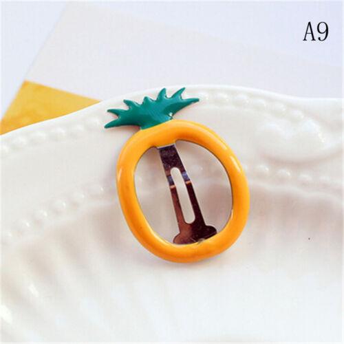 10X Sweet Fruit Baby Kids Girl BB Hair Clip Hairpin Headwear Hair Accessor Eh