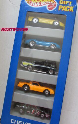 Hot Wheels 5 Voiture Paquet Cadeau Chevrolet Camaro Corvette Jaune