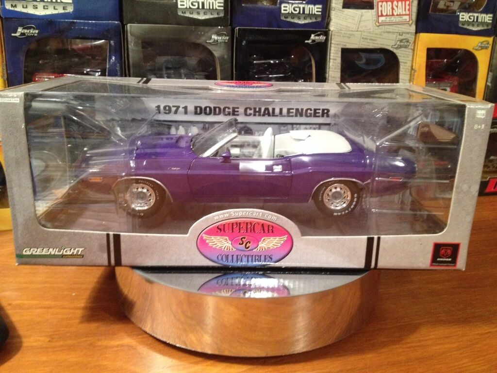 Geeenlight 1 18 1971 Dodge Challenger  1 of 750 supercar collectible. Item 50808