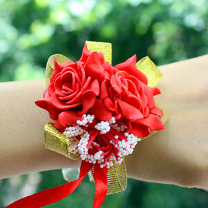 Bridal bridesmaid silk flowers wrist corsage wedding party rose image is loading bridal bridesmaid silk flowers wrist corsage wedding party mightylinksfo