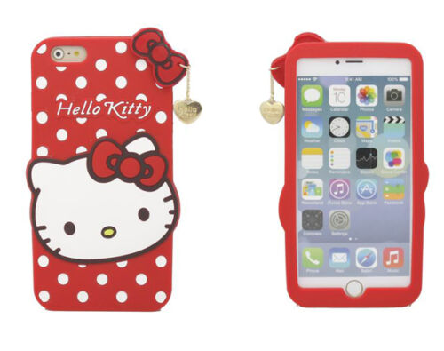 2e8048dde 2018 3D Hello Kitty Bow Soft Silicone Phone Case Cover For iPhone X 5 6 7 8  Plus