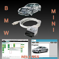 Bmw Usb Obd Diagnostic Cable Interface Inpa K+dcan Inpa Sss Progman 1998 - 2008