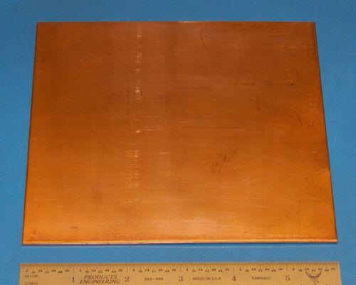 "1.6mm 6x6/"" Polished .062/"" Copper Sheet #14"