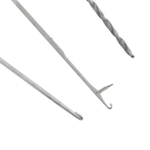 3Pcs Stainless Steel Carp Fishing Baiting Needle Set Bait Boilie Drill Splicing
