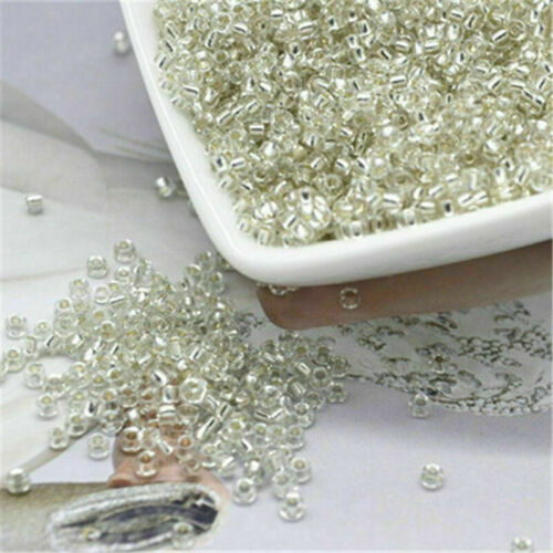 1500Pcs 2mm Czech Glass Seed Spacer Beads Jewelry Making DIY Findings Crafts#