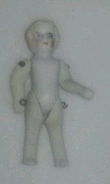 2.25 inch high German Bisque Doll Numbers 280 5/0.  Left Leg 4083 Right leg,100