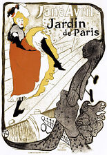 Art Deco - Jane Avril - Can Can Dancer - French A3 Art Poster Print
