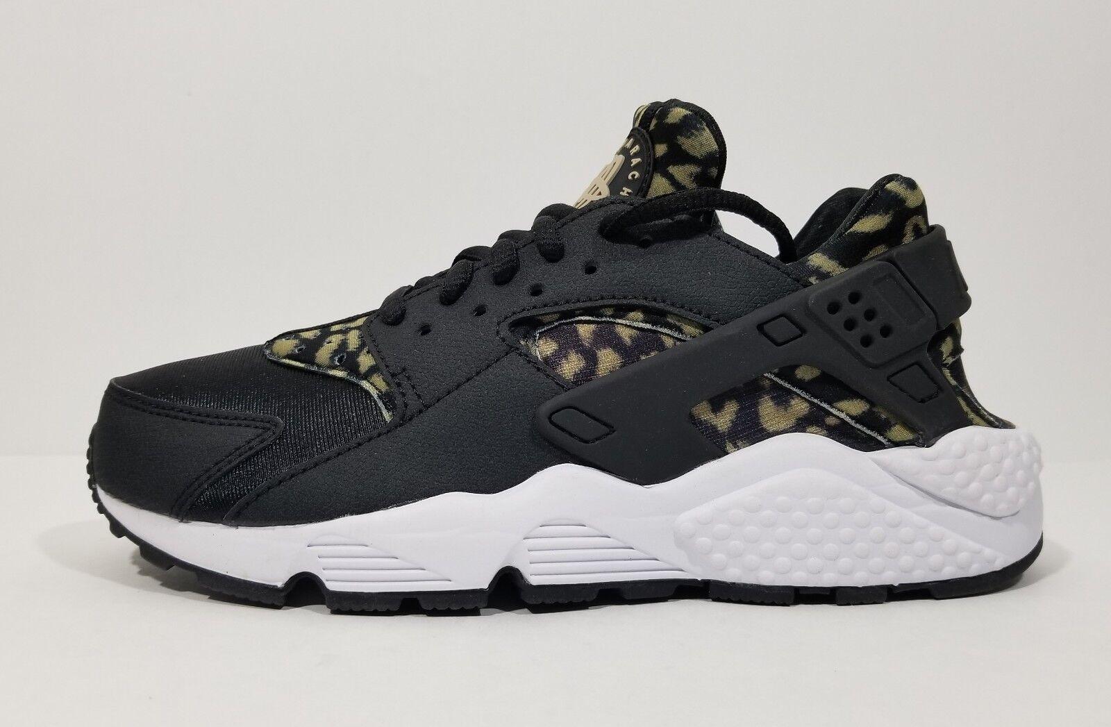 Nike air huarache correre le donne scarpe da corsa leopardo nero grande croce della formazione