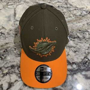 MIAMI DOLPHINS NFL NEW ERA 39THIRTY SALUTE TO SERVICE SIDELINE HAT ... 962567962