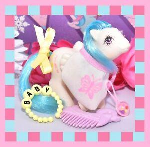 My-Little-Pony-MLP-G1-Vtg-Peek-a-Boo-Baby-Pegasus-Pony-GRAFFITI-amp-Bib-Comb