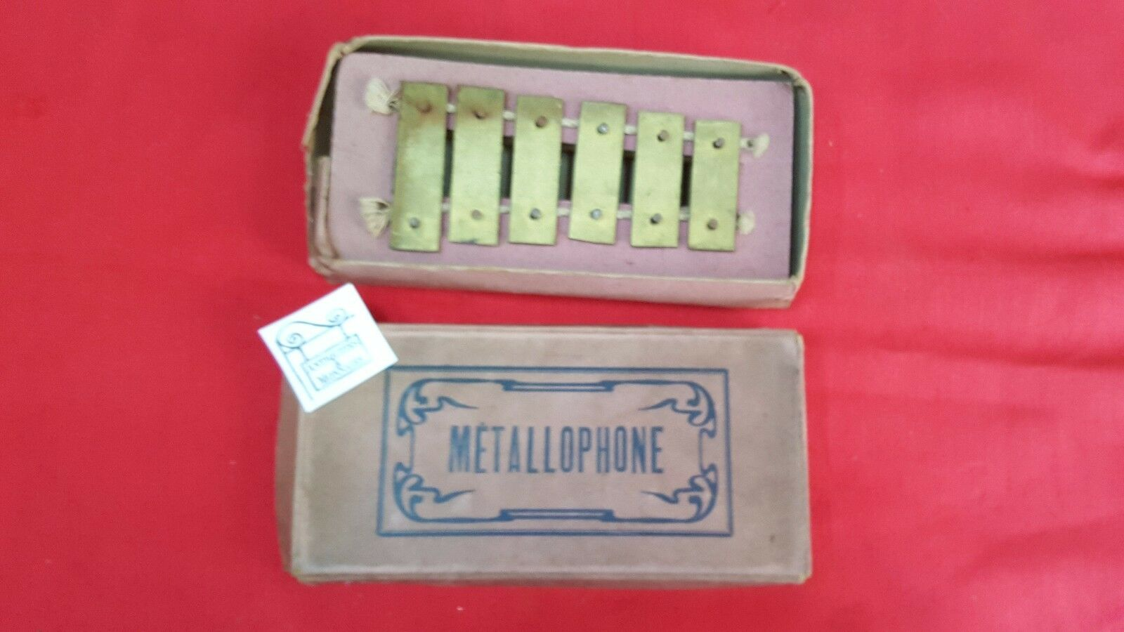 TOY TOY TOY OLD METALLOPHONE WITH ITS BOX - REF26541 4dbde9