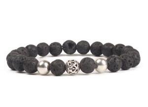 8mm-Volcanic-rocks-Bracelet-Stretchy-Handmade-Gemstone-Monk-Wrist-mala-Sutra