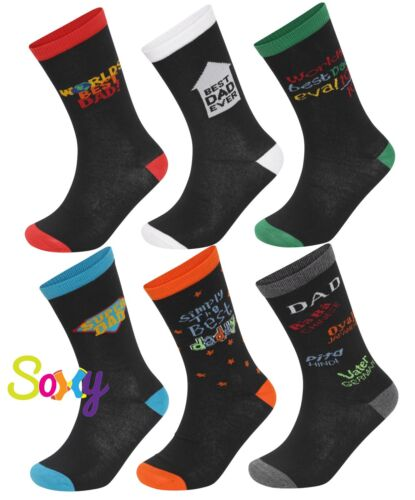 Fathers Day Or Birthday Gift Size 7-11 'Best Dad Ever' Mens Socks