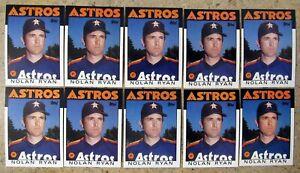 Nolan Ryan 1986 Topps #100 Houston Astros 10ct Card Lot