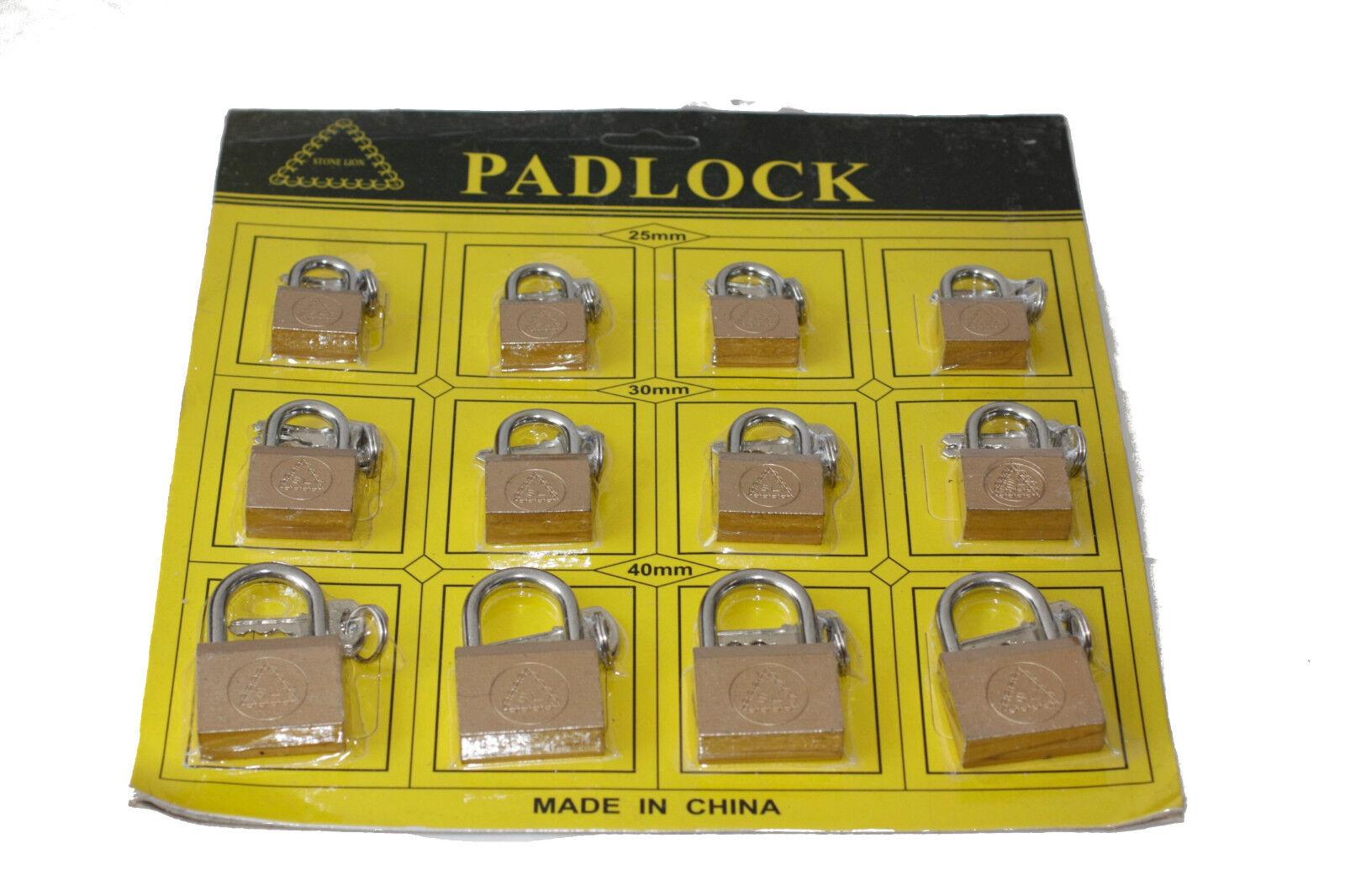 12 pièces cadenas 25/30/40mm cintres serrure valise 12er-set château 12er-set valise eae5c0