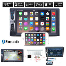 "6.6"" 2 DIN Autoradio NAVI Bluetooth Touch Screen DVD CD MP3 Player USB TF AUX DE"