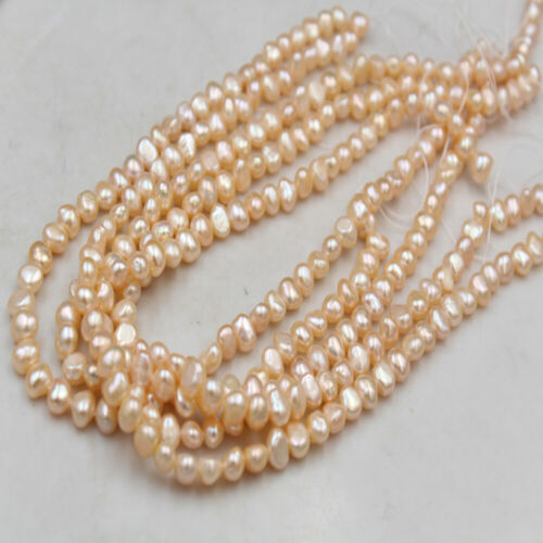 Wholesale 4-9mm Natural Freshwater Pearls Jewelry Baroque Loose Round Beads DIY