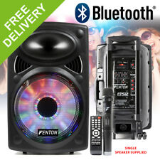 """Active Powered House Party Speaker System 12"""" Bluetooth with Lights Wireless Mic"""