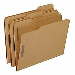 Pendaflex FK212 Kraft Fastener Folders 2 Fasteners 1 3 Cut Tabs Letter Box of 50