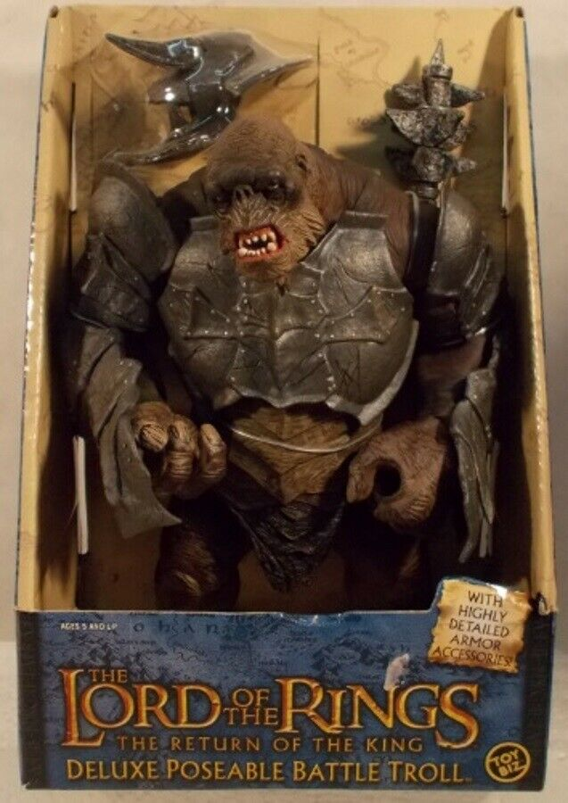 Lord Of The Rings 10  kämpfen Troll Poseable With Armor  Return of the King Movie