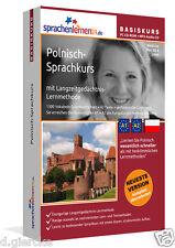 Polnisch lernen Sprachkurs Basiskurs CD-ROM+MP3-Audio-CD Sprachenlernen24 A1+ A2