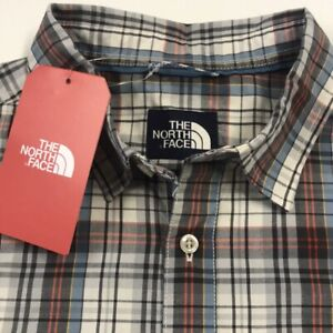 new-THE-NORTH-FACE-Men-039-s-2XL-Plaid-Short-Sleeve-Casual-Collared-Shirt-XXL