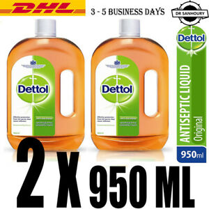 2X-DETTOL-32-1-OZ-950-ML-ANTISEPTIC-DISINFECTANT-ALL-PURPOSE-Cleaner-FREE-DHL