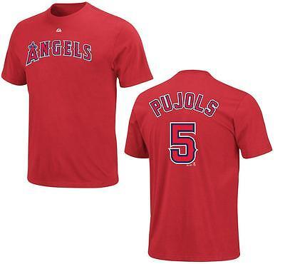 Baseball & Softball Das Beste Mlb Baseball Name&number T-shirt Los Angeles Angels Albert Pujols #5 Rot Geeignet FüR MäNner Und Frauen Aller Altersgruppen In Allen Jahreszeiten