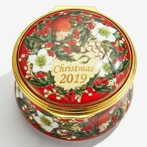 Halcyon-Days-Enamel-Annual-CHRISTMAS-Year-Box-2019-with-COA-NEW-MINT-ENCH190101G