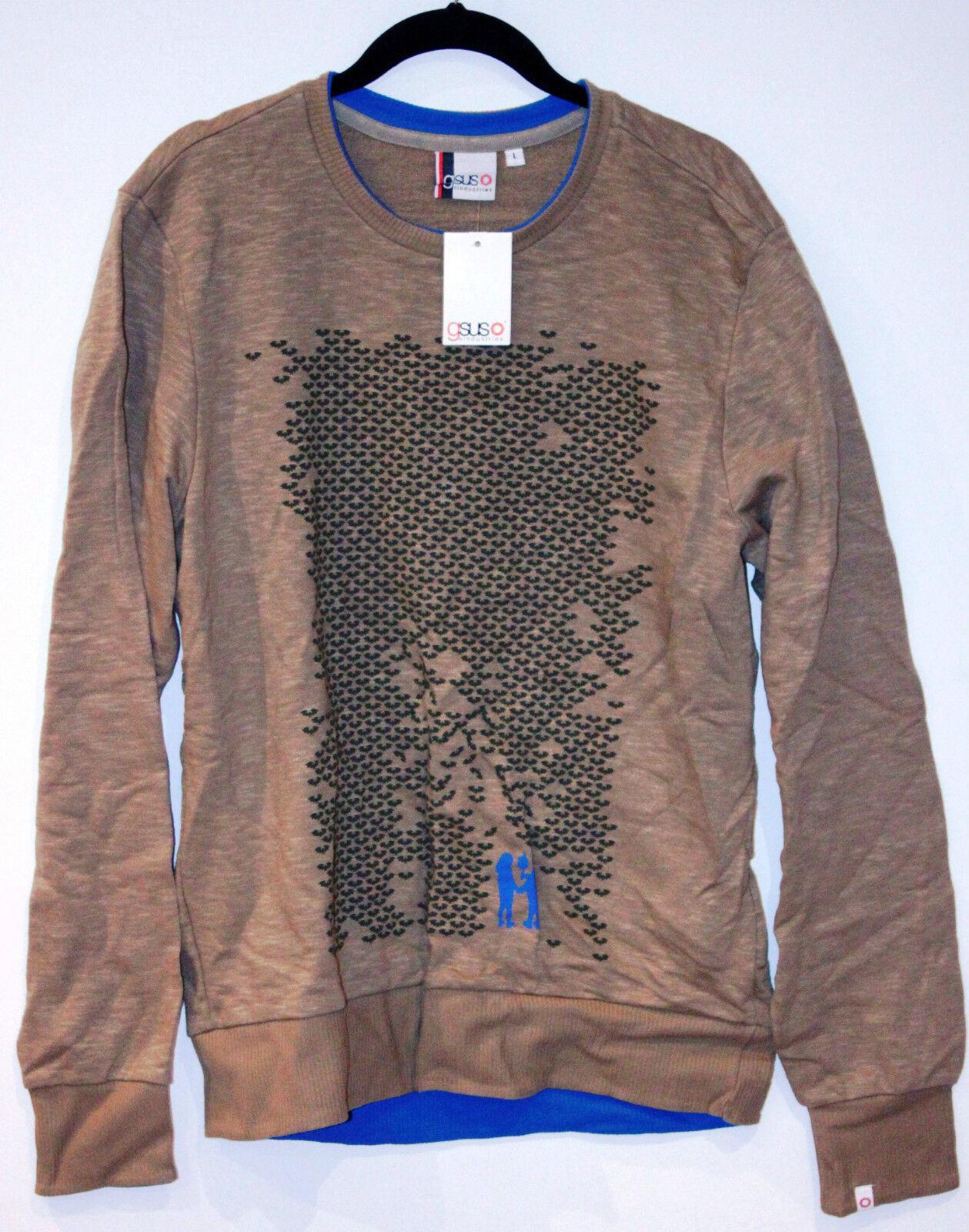 GSUS INDUSTRIES Olive Pixie Grün Sweatshirt terry Interior Cotton Bats L 110