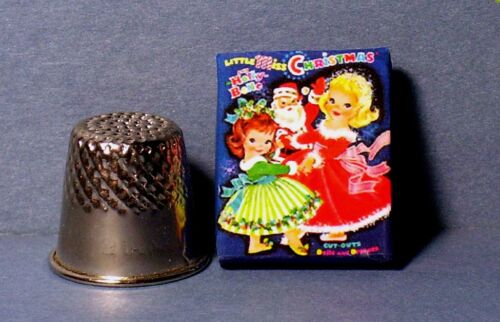 Dollhouse Miniature 1:12 Little Miss Christmas Paper Dolls 1960s dollhouse toy