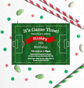 Image Is Loading Football Themed Birthday Party Invitations Any Age Pack