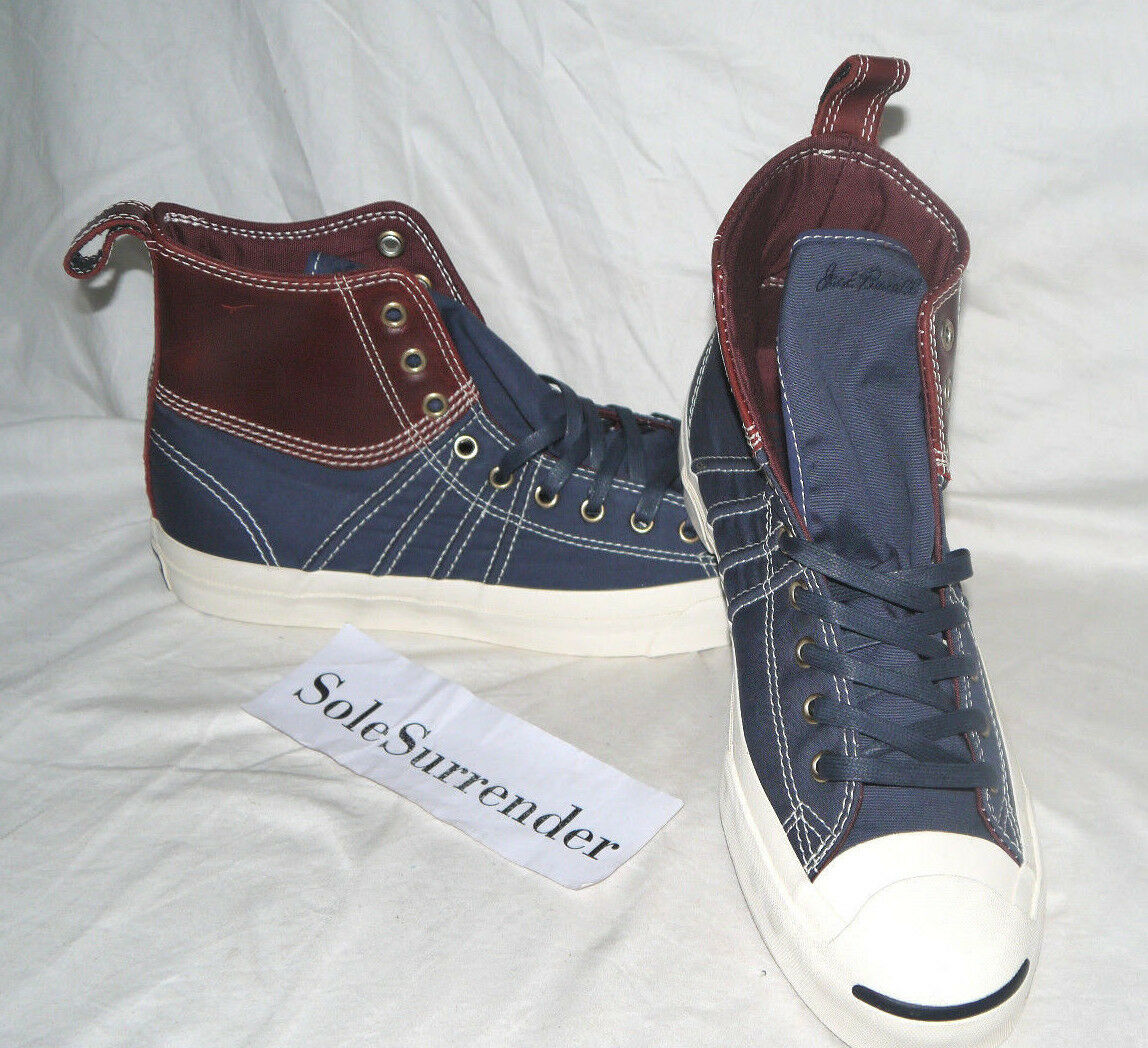 Converse Jack Purcell Duck Boot -CHOOSE SIZE- 139771C Navy Brown Leather Leather Brown High Hi 2b21ff