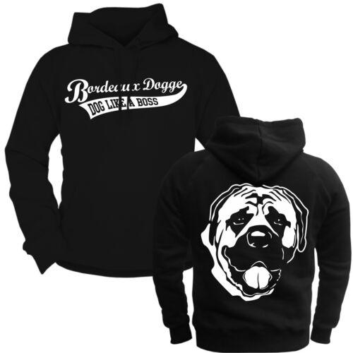 Kapuzenpullover Sweatshirt Hoodie Bordeaux Dogge hunde dogs rasse züchter