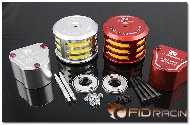 FID CNC alloy rotatable gas mark all metal vertical air filter FOR LOSI 5IVE-T